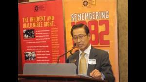 Michael Lin, OCA, at Hse Recpt on Passage of Aplogogy